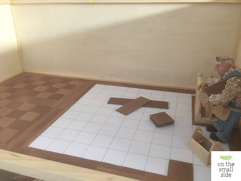 laying tiles for floor